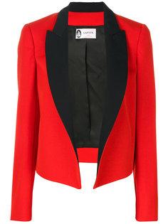 пиджак с контрастными лацканами Lanvin