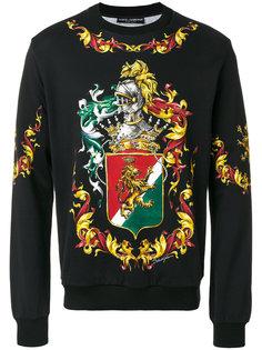толстовка с принтом герба Dolce & Gabbana