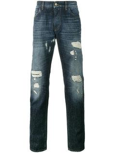 джинсы с эффектом потертости Dolce & Gabbana