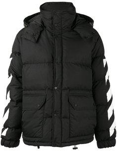 куртка с принтом с эффектом мазков кисти Off-White