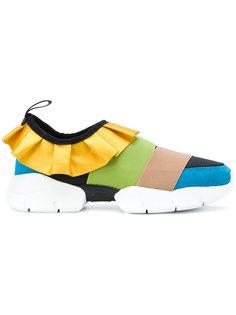 кроссовки дизайна колор-блок Emilio Pucci