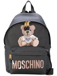 рюкзак с принтом плюшевого медведя Moschino