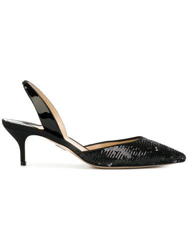 туфли с ремешком на пятке и пайетками Paul Andrew