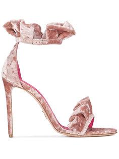 бархатные сандалии Antoinette с оборками  Oscar Tiye