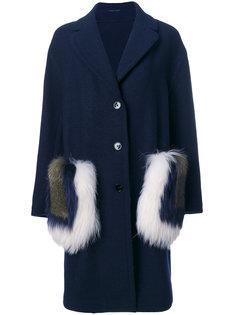 меховое пальто Ermanno Scervino