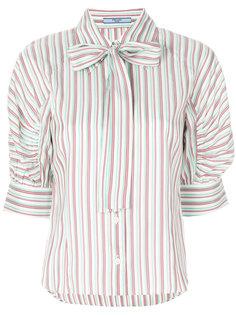 полосатая блузка с завязками на бант Prada