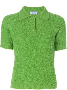 пушистая футболка-поло  Prada