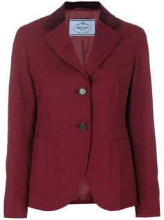 пиджак с бархатным воротником Prada