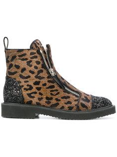 ботинки Austin с отделкой мехом пони Giuseppe Zanotti Design