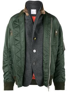 двухслойная куртка-бомбер Sacai