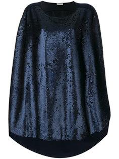 платье-шифт с пайетками Stefano Mortari