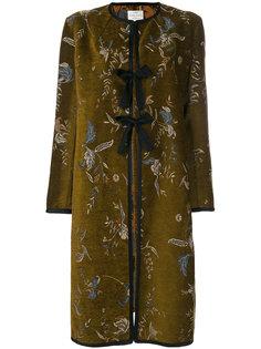 пальто с цветочной вышивкой  Forte Forte