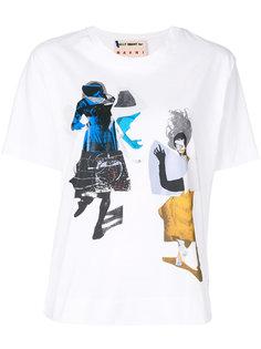 футболка с абстрактными рисунками Marni