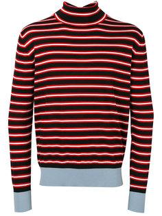 полосатый свитер с отворотом Marni