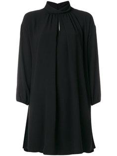 короткое платье с отворотной горловиной Boutique Moschino