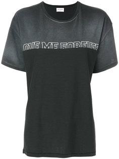 футболка с контрастной вставкой Saint Laurent
