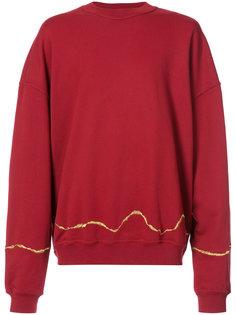 свитер с золотистой отделкой Haider Ackermann