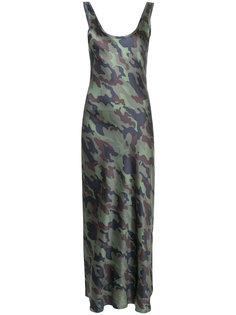 камуфляжное платье макси Nili Lotan