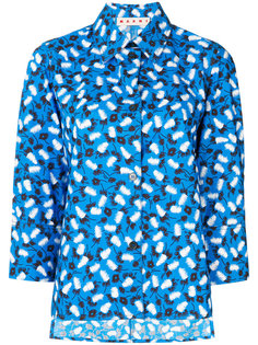 рубашка с узором из перьев Marni