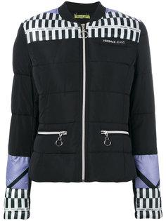 дутая куртка колор блок  Versace Jeans