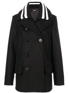 пальто с воротником в рубчик  Givenchy