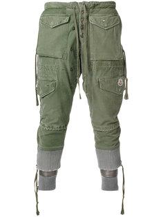 укороченные брюки-карго с многослойным дизайном Moncler X Greg Lauren