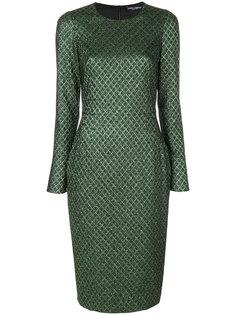 жаккардовое платье с металлическим отблеском Dolce & Gabbana