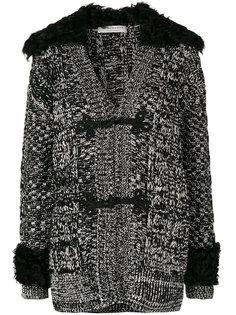 куртка-кардиган с отделкой мехом Philosophy Di Lorenzo Serafini