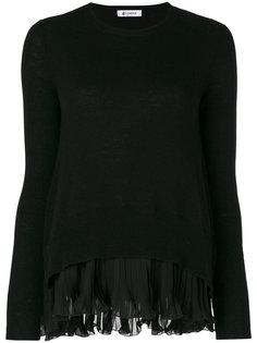 свитер с плиссированной деталью Dondup