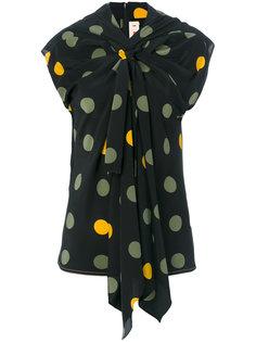 блузка с пятнистым принтом Marni