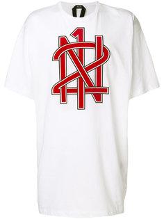 футболка с фирменным принтом Nº21