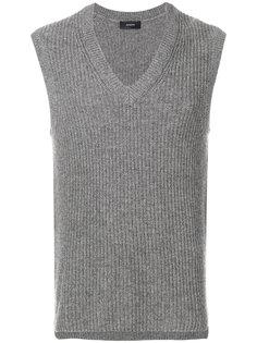 свитер без рукавов с V-образным вырезом Joseph