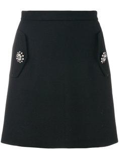 юбка мини с отделкой  Nº21