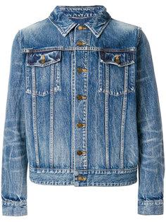 куртка Jean  с вышивкой фламинго Saint Laurent