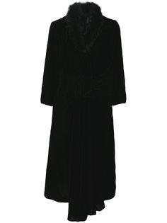 платье с воротником из искусственного меха  Simone Rocha