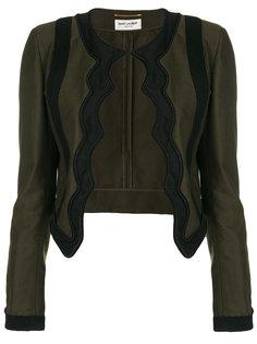 пиджак с фестончатой отделкой Saint Laurent