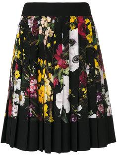 плиссированная юбка с цветочным принтом Dolce & Gabbana