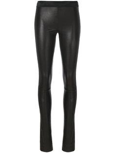 эластичные кожаные брюки Drome