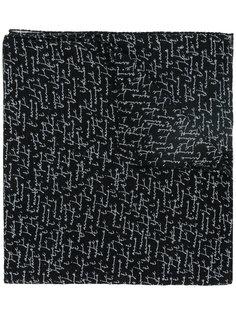 плетеный шарф с принтом Je taime Saint Laurent