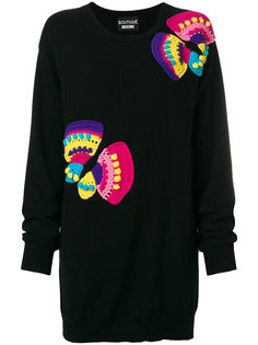 платье-джемпер с аппликацией  Boutique Moschino