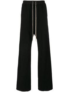 расклешенные спортивные брюки Rick Owens DRKSHDW