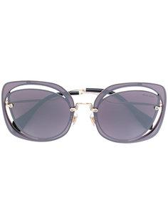 солнцезащитные очки в контрастной оправе Miu Miu Eyewear