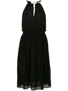 плиссированное платье Georgette Michael Michael Kors