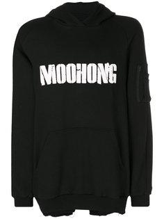толстовка с принтом логотипа Moohong