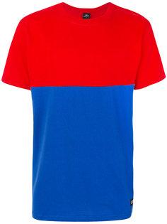 двухцветная футболка с графическим принтом Les (Art)Ists