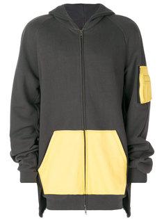 """куртка с капюшоном дизайна """"колор-блок"""" Moohong"""