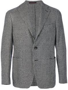 пиджак с принтом в ломаную клетку The Gigi