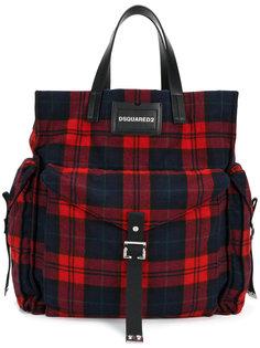 клетчатая сумка-шоппер Dsquared2