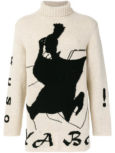 свитер с рисунком Yohji Yamamoto