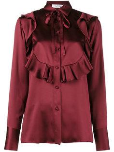 блузка с оторочкой из рюшей Valentino